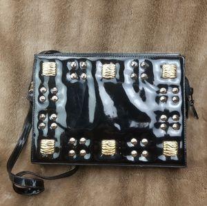 Vintage purse crossbody golden studs